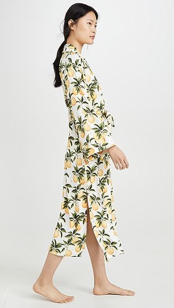 Mason Grey Oranges Kimono