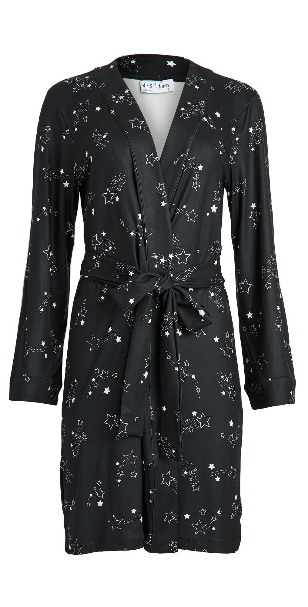 Mason Grey Classic Short Robe