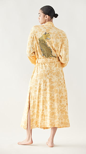 Mason Grey Golden Cheetah Kimono