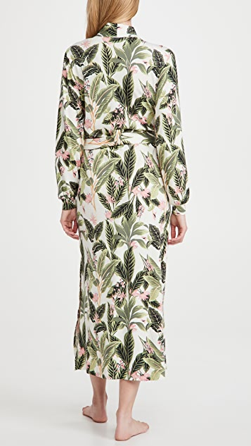 Mason Grey Banded Paradise Long Robe