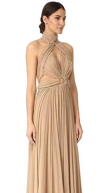 Maria Lucia Hohan Moss Halter Maxi Dress