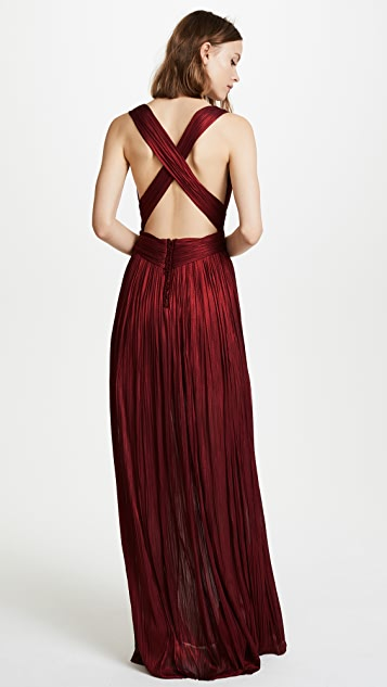 Maria Lucia Hohan Deep Neck Floor Length Dress