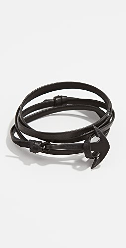 Miansai - Anchor Leather Wrap Bracelet
