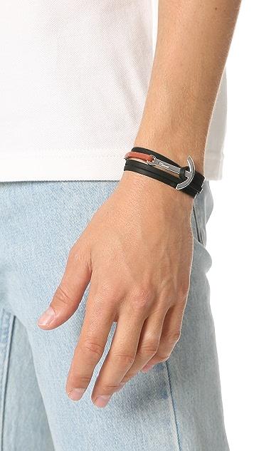 Miansai Modern Anchor Two Tone Wrap Bracelet