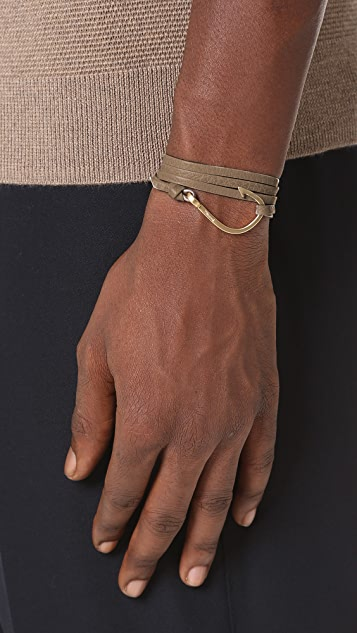 Miansai Hook Leather Wrap Bracelet