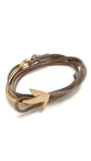 Miansai Anchor Half Cuff Wrap Bracelet