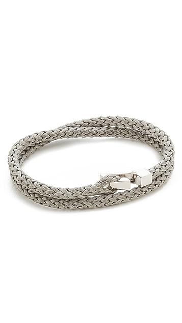 Miansai Sterling Silver Ipsum Wrap Bracelet