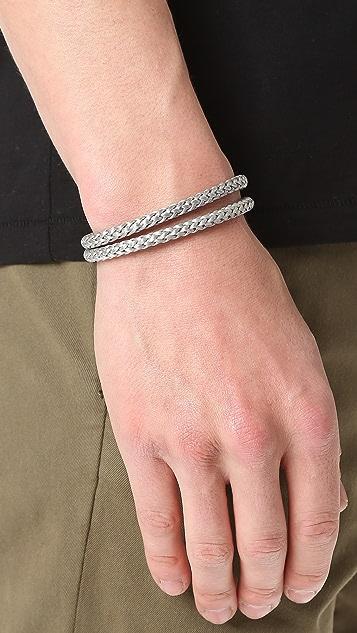 Miansai Закрученный браслет Ipsum с серебром 925пробы