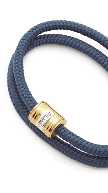 Miansai Casing Rope Bracelet - Brass/Solid Navy xSKKMo