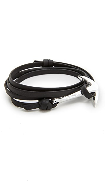 Miansai Anchor Leather Bracelet