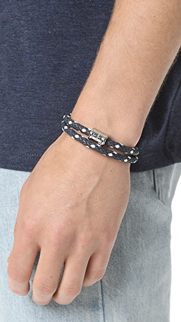 Miansai Two Tone Leather Casing Bracelet
