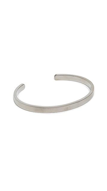 Miansai Rhodium Singular Cuff Bracelet