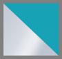 Matte Silver/Teal