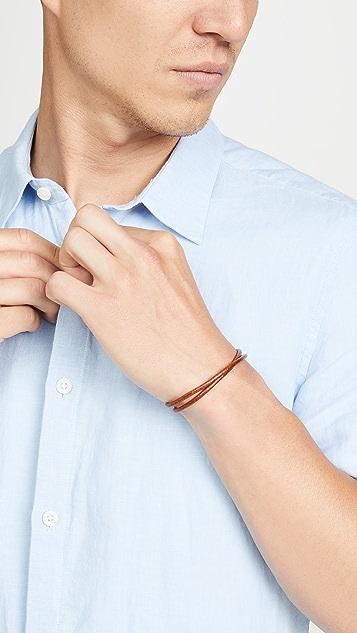 Miansai Centra Leather Wrap Bracelet