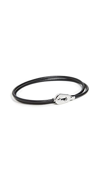 Miansai Centra Leather Wrap Bracelet