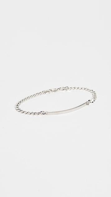 Miansai Sterling Silver ID Chain Bracelet