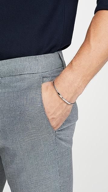 Miansai Sterling Silver ID Cuff Bracelet
