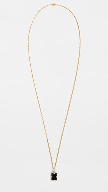 Miansai Lennox Onyx Necklace