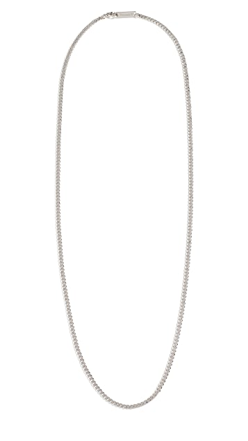 Miansai 3MM Sterling Silver Cuban Chain Necklace