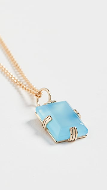 Miansai Lennox Blue Agate Pendant Necklace