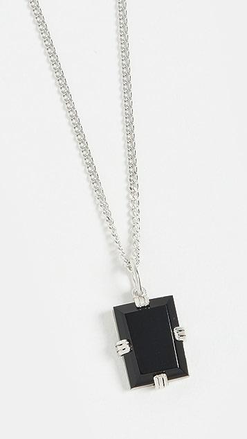 Miansai Lennox Onyx Chain Necklace