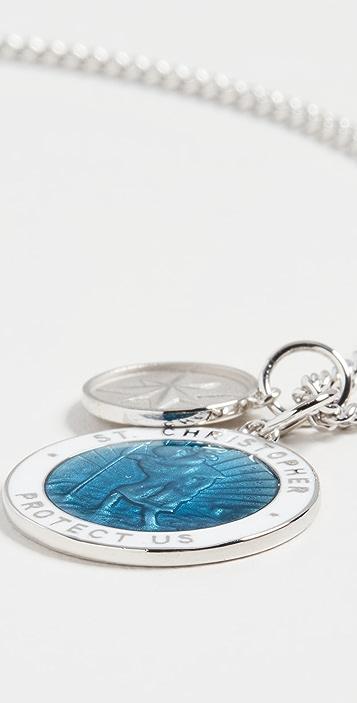 Miansai Saint Christopher Surf Necklace