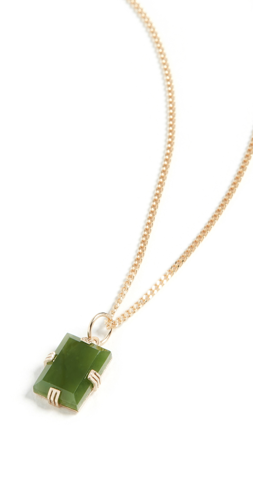 Lennox Jasper Green Chain Necklace