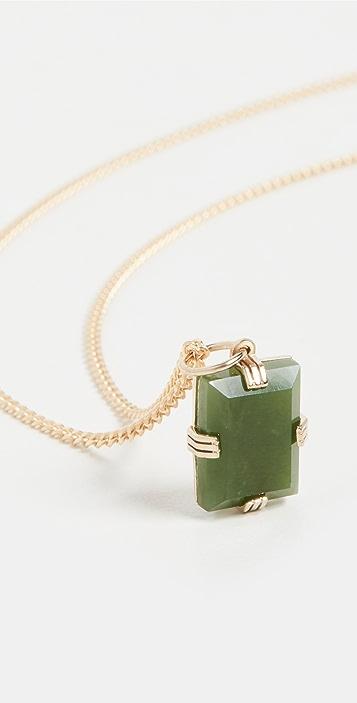 Miansai Lennox Jasper Green Chain Necklace