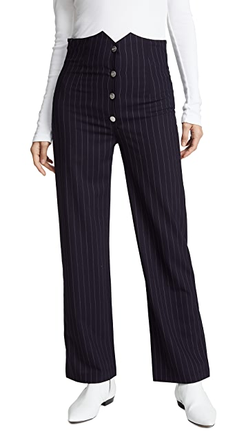 Miaou Julia 细条纹长裤