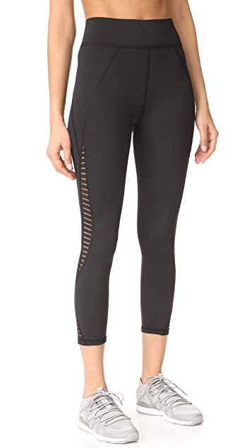 MICHI Medusa Stripe Crop Leggings