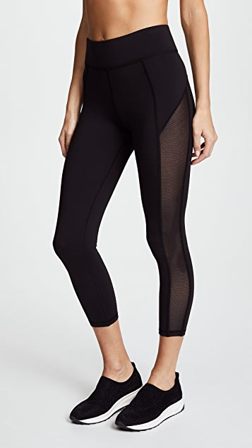 MICHI Stardust Crop Leggings - Black