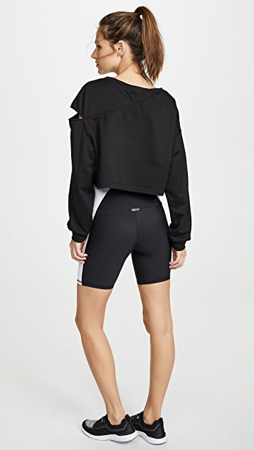 MICHI Fusion Crop Sweatshirt
