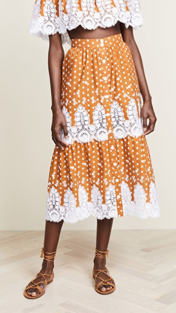Miguelina Carolina Midi Skirt