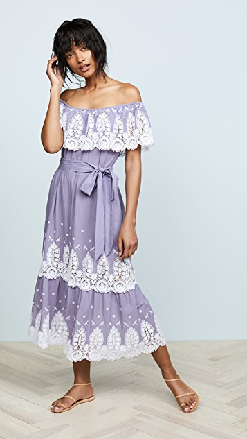 Miguelina Liselle Off Shoulder Dress