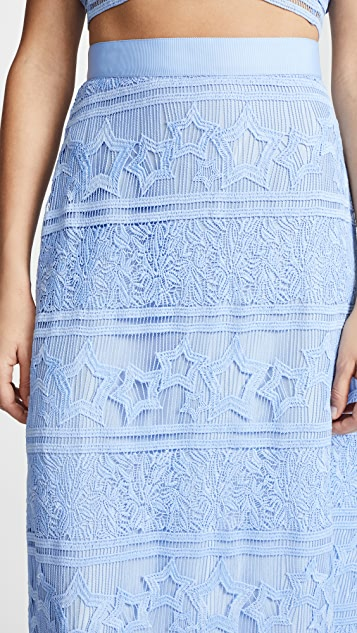 Miguelina Starlight Lace Asher Skirt