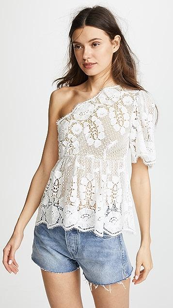 Miguelina Eleanor One Shoulder Top