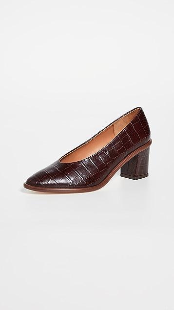 Miista Bernadette 粗跟浅口鞋