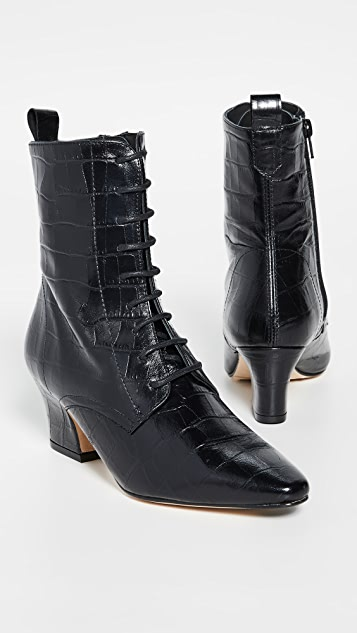Miista Zelie Lace Up Booties
