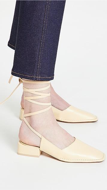 Miista Sierra Ankle Wrap Flats