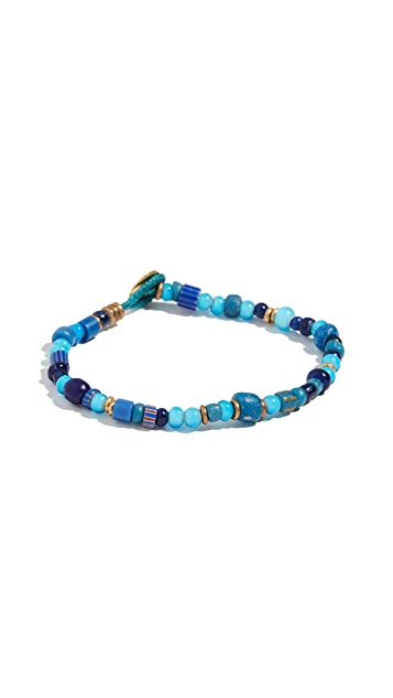 Mikia White Hearts Bracelet