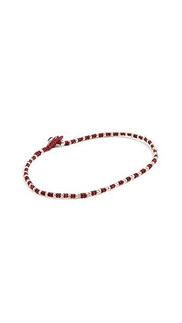 Mikia Brass Silver Bracelet