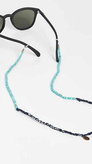 Mikia Bandana and Glass Beads Sunglasses Cord