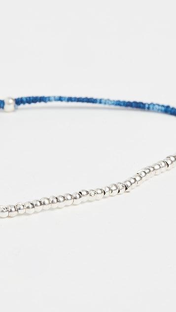 Mikia Small Silver Beads Bracelet