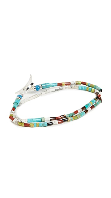 Mikia Tube Double Wrap Bracelet