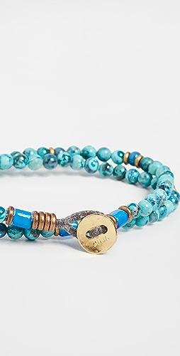 Mikia - 4mm Stone Double Wrap Bracelet