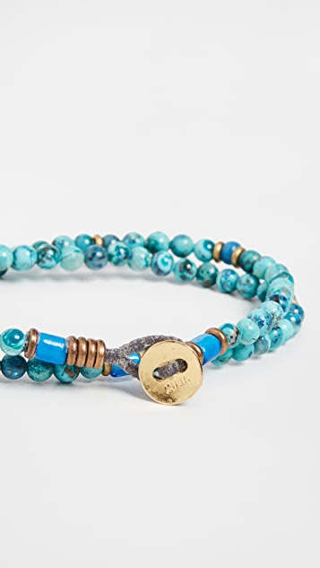 Mikia 4mm Stone Double Wrap Bracelet
