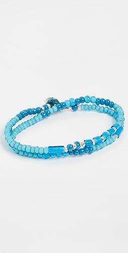 Mikia - White Hearts Double Wrap Bracelet