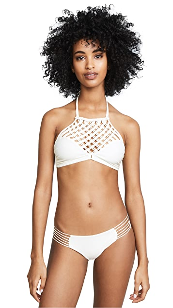 MIKOH Lanikai High Neck Halter Top