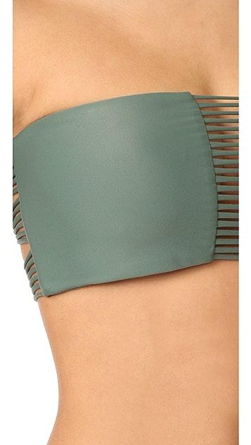 MIKOH Sunset Triple Loop Bandeau Bikini Top
