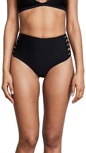MIKOH Gold Coast High Waisted Bikini Bottoms